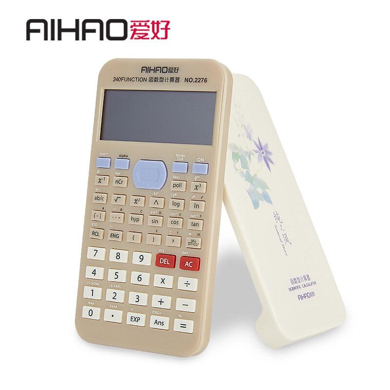 Aihao Multi-Fungsi Scientific Calculator Genggam Global Standar Olimpiade Kalkulator-Internasional