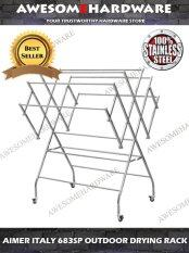 AIMER ITALY AMCH683 STAINLESS STEEL CLOTH HANGER STAINLESS CLOTH RACK  DRYING RACK