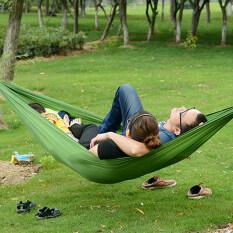 Allwin Nilon Katil Tempat Tidur Gantung Parasut Portabel For 2 Those Who Are Berkemah Perjalanan Luar Ruangan Hijau
