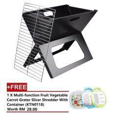 Alpha Living Charcoal Barbeque X-Grill - Black [FREE Multi-function Fruit Vegetable Carrot Grater Slicer Shredder With Container] (KEA0065/KTN0118)