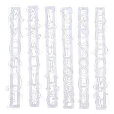 Alphabet Number Letter Cake Decorating Mold Fondant Icing Cutter Mould Set (white) By Companionship.