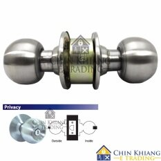 Aman 3872SS Cylindrical Privacy Lock Door Knob Set Satin St Steel