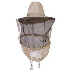 Jettingbuy Anti Mosquito Bee Cowboy Hat Insect Bug Face Veil Head Guard Beekeeping Garden