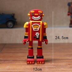 Lb Antik Retro Robot Dekorasi untuk Warung Kopi Toko Show Warna: Merah