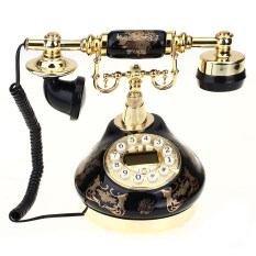 Antique Style Resin Telephone Decor By Topmall.