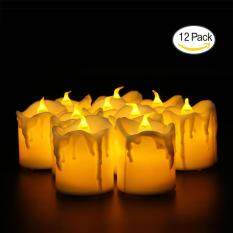 LED Lights Candles, Flameless Candles LED Candles, Flickering Tealight Candles, Warm White, Pack Of 12