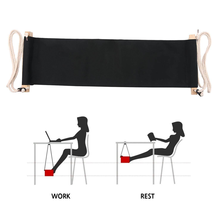 Aolvo Portable Adjustable Mini Office Foot Rest Desk Feet Hammock - intl