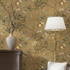 Apple Tree Country Style Wallpaper for Living Room Coffee Shop Clothing Shop Light Blue Colour 20.8 x 393.7