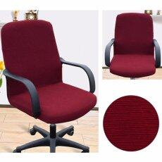 Arm Chair Cover Three Sizes Office Computer Chair Cover Side Zipper Design Recouvre Chaise Stretch Rotating