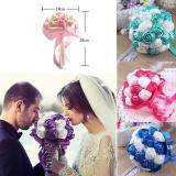 Artificial Silk Rose Wedding Flowers Bouquet Bridal Bouquets Color Pink Deal