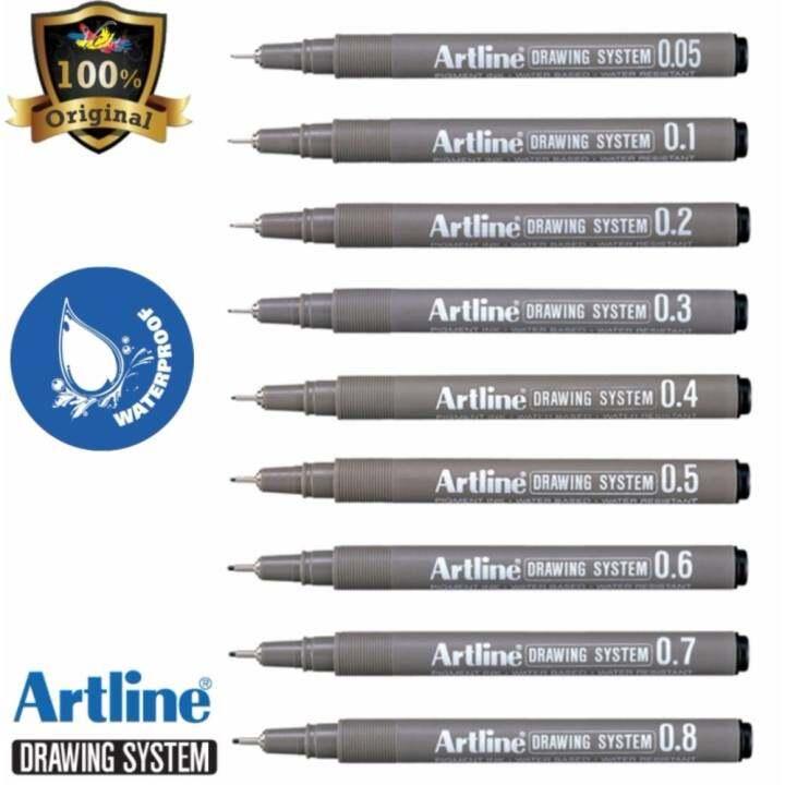 Art Line Questions : Artline drawing system pen black set of ek lazada