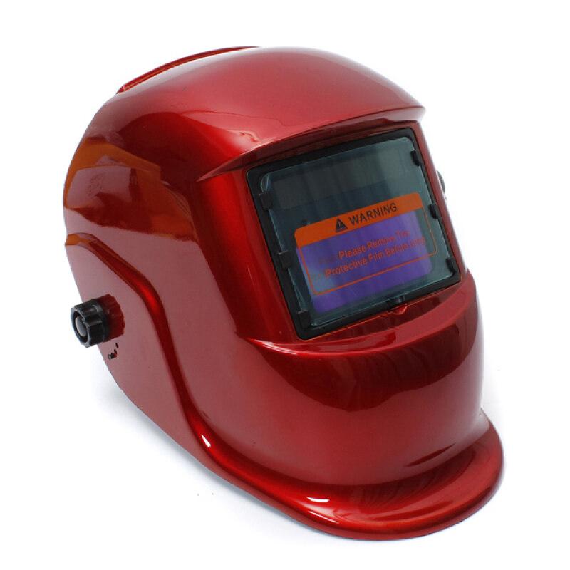 Auto Darkening Solar Welders Welding Helmet Mask with Grinding Function Red