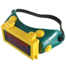 Auto Solar Darkening LCD Welding Glasses Welding Mask Welding Goggles Helmet Green+Yellow