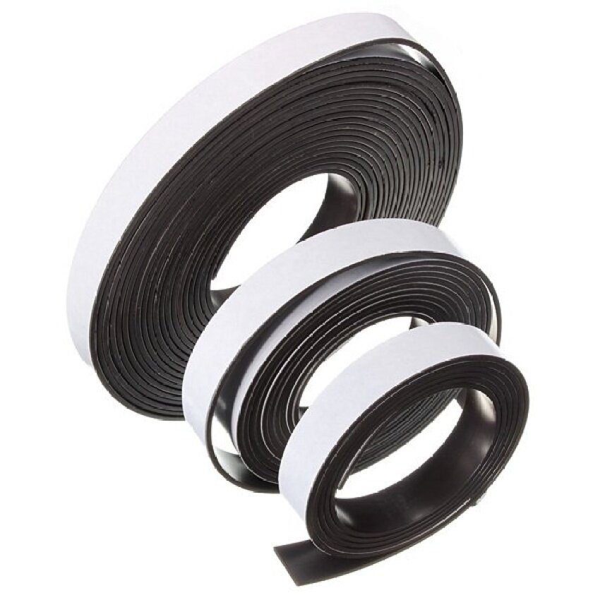 12x1.5mm Flexible Rubber Self Adhesive Magnet Magnetic Tape Stripcraft 5m/2m/1m By Zhongshengtrade.