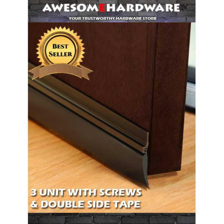 3 unit rubber door seal bottom seal door sweep with screws Rubber door sweeps for exterior doors