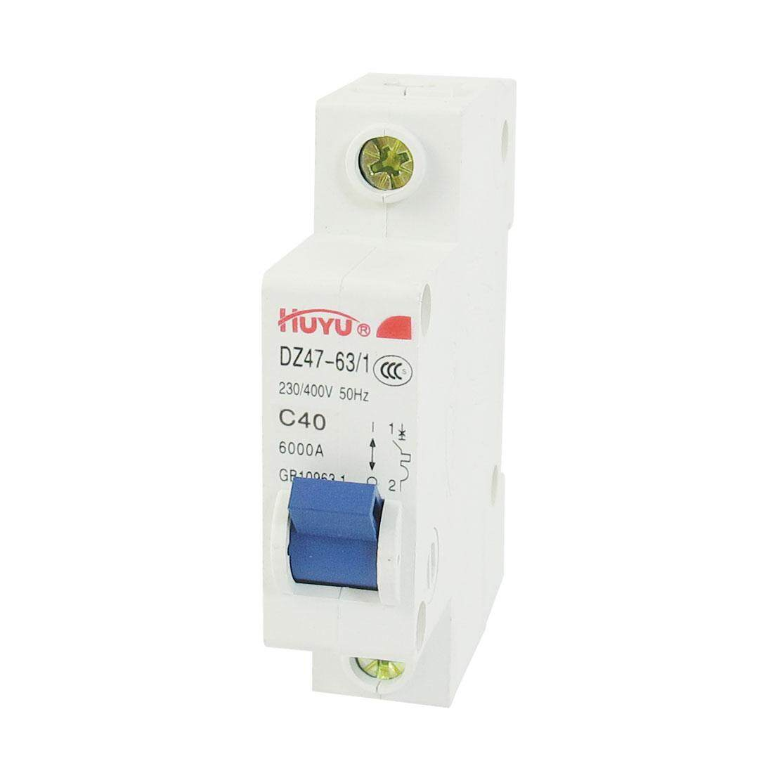 Sell Axa Dz47le 63a Cheapest Best Quality Th Store 20a Circuit Breaker 400v Onoff Mcb With Cover Buy 35mm Din Rail Dz47 63 C10 Intlthb439 Thb 439