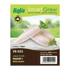 Baba Smart Grow Seeds VE-033 White Radish (Lobak Putih) ±10G
