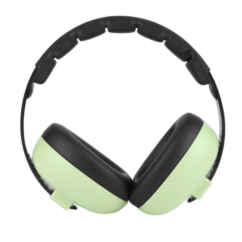 Baby Hearing Protection Noise Reduction Adjustable Headband Soft Earmuffs(Green) - intl