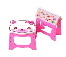 Baby Portable Stool Folding Safe Seat Chair Kids Small Flat Seat Kids Colorful Photography Props Kids Small Flat Seat