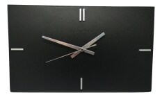 Balenciaga Wall Clock In Eco Leather Black