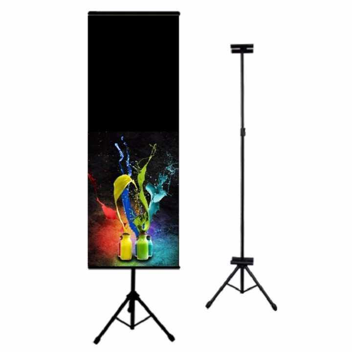 Banner Bunting Advertisement Tripod Stand Adjustable with double sided clip