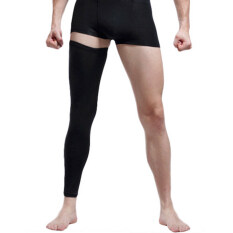Bao Core 1 Pair Mens Professional Over Knee Compression Calf Sleeves Leg Tights Supports Long Knee Pads for Basketball Workout GYM Running Cycling Crossfit Football Sport Large Black