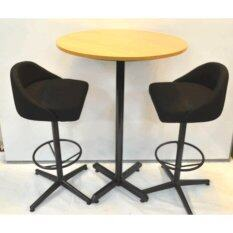 Bar Table set of 1 bar table & 2 stool (Bar table size 70dia x 100H cm)