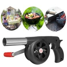 BBQ CHARCOAL GRILL BEADS F IRE STARTER POWERFUL FAN BLOWER LARGE HAND CRANK