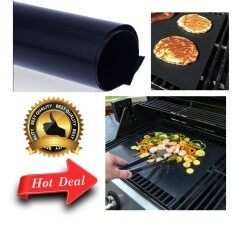 BBQ Grill Mat Non-Stick Outdoor Picnic Camping Works on Gas, Charcoal, Electric Grills Heat Resistant Barbecue Sheets For Grilling Meat, Veggies, Seafood Outdoor Kitchen