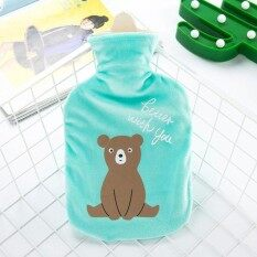 Beautiful Water-Filling Big Hot Water Bag Cartoon Animals Plu Pocket Portable Hand Warmer Water Injection Hot Water Bottle 17.5*29Cm