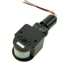 Beautymaker Security 12M RF 140° PIR Infrared Motion Sensor Detector Wall LED Light Outdoor Black AC 85V~265V