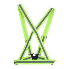 BELLE Traffic Night Work Security Running Cycling Safety Reflective Vest Jacket green