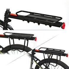 Bicycle Touring Carrier Rack Adjustable Frame-Mounted For Heaviertop And Side Loads Black