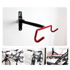 Hiqueen Bike Rack Wall Mount Garage Bicycle Storage Hanger Hook Holder Shelf for Indoor Space Saving Color:Red hook frame Size:F