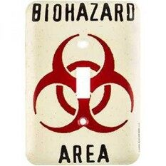 Biohazard Area Wall Light Switch Cover By Openroad