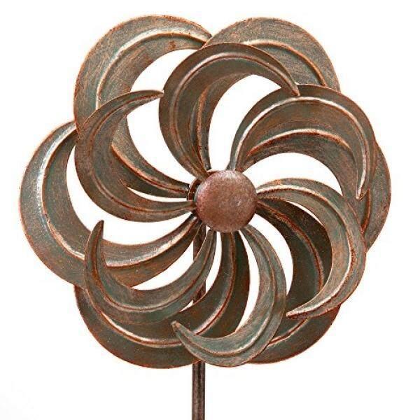 Sedikit dan Buah-Mini Bunga Angin Spinner Taman Stake-Kecil Patung Angin untuk Taman Anda, rumput atau Teras-Whirligig Terbuat dari Besi Tahan Lama-Kinetic Angin Mill-Internasional