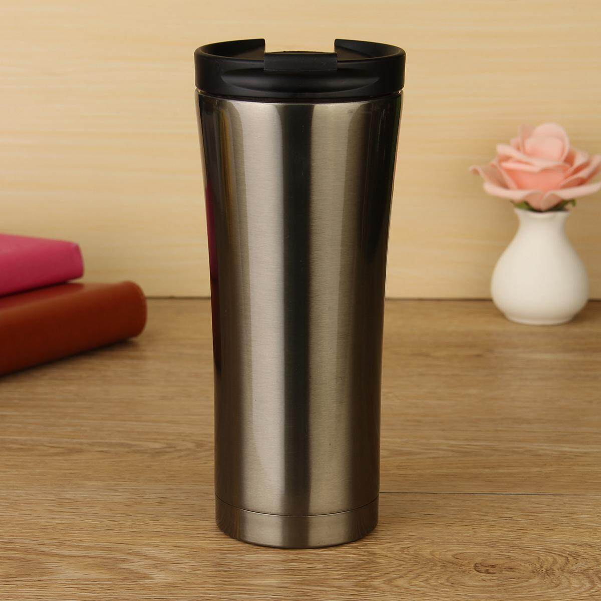 Black Hot Sale Double Wall Stainless Steel Coffee Thermos Cups Mugs Thermal Bottle 500 Ml Thermocup Fashion Tumbler Vacuum Flask - Intl By Five Star Store.