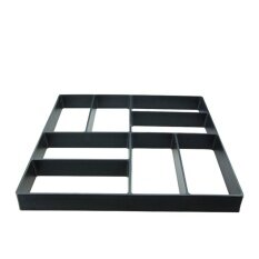 Black Square Paving Moulding Mould Driveway Pavement Mold Patio Concrete Stepping Stone Path Walk Maker