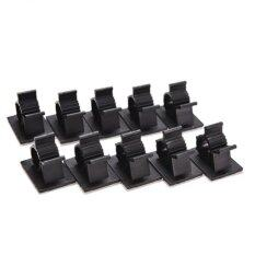 Black10Pcs Adhesive Backed Nylon Wire Adjustable Cable Clips Clamps 16mm