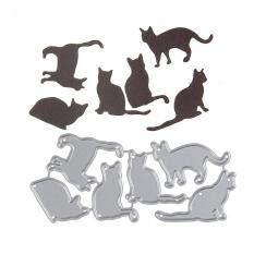 Blackhorse 98*44.6 Mm Kucing Yang Indah Baru Karbon DIY Memo Sharp Logam Baja Pemotongan Mati Buku Album Foto Seni Kartu Dies Memotong