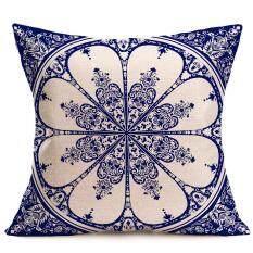 Bohemian Geometric Style Cotton Linen Throw Pillowcase Sofa Cushion Cover Case By Blworld.