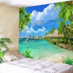 3D Decorative Polyester Fabric Wall Hanging Tapestry For Indoor Outdoor Use Usage (59x51inch)