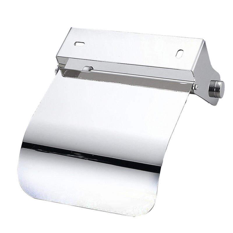 Qusmant 1Pc Convenient Toilet Paper Holder Steel Tissue Cover 1 Stainless Case Boxes