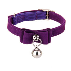 Adjustable Pet Kitten Cat Puppy Safety Collar Bell Buckle Neck Strap Purple By Bolehdeals.