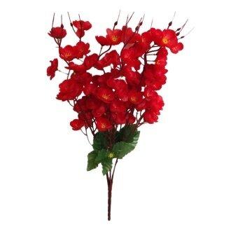 Bolehdeals Buah Persik Buatan Mekar 7 Batang Bunga Sutra Karangan Bunga  untuk Dekorasi Rumah Merah- ab86d15765
