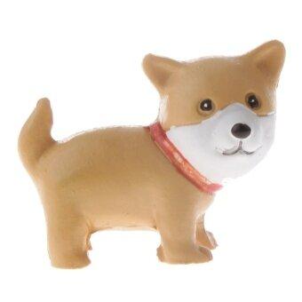Bolehdeals Miniatur Rumah Boneka Pot Bunga Ornamen Bonsai DIY Dekorasi Kerajinan Anjing Akita-Intl
