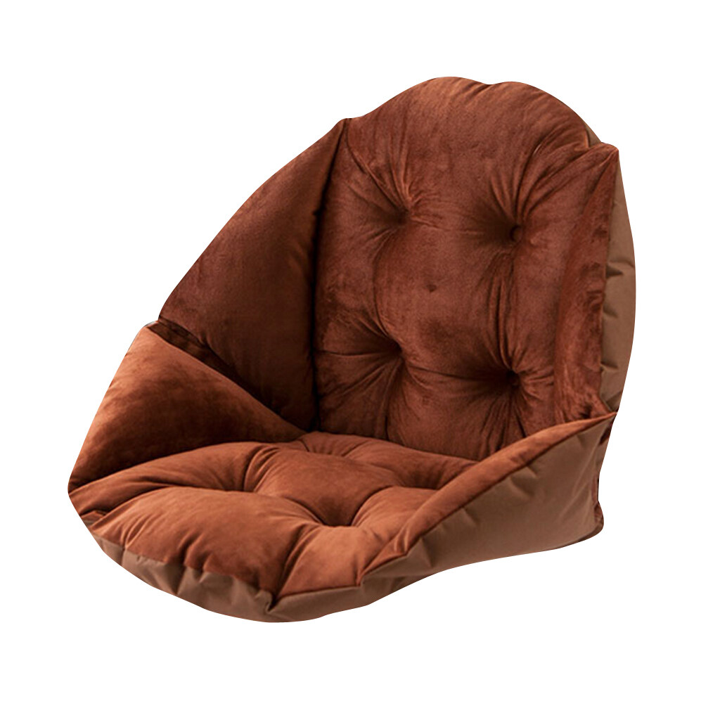 BolehDeals Shell Shape Seat Cushion Warm Mat All-rounded Chair Pad Sofa Pillow-Coffee - intl