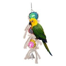 Bone String Pendant Gadget Pet Bird Parrot Parakeet Canary Funny Play Toy