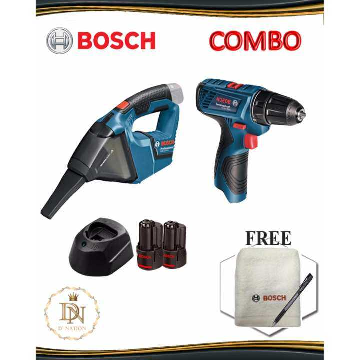 bosch 12v combo set gsr 120 li driver drill gas 12v li hand vacuum professional lazada. Black Bedroom Furniture Sets. Home Design Ideas