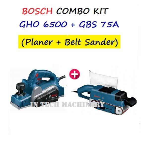BOSCH COMBO KIT, GHO6500 +GBS75A PLANER C/W BELT SANDER